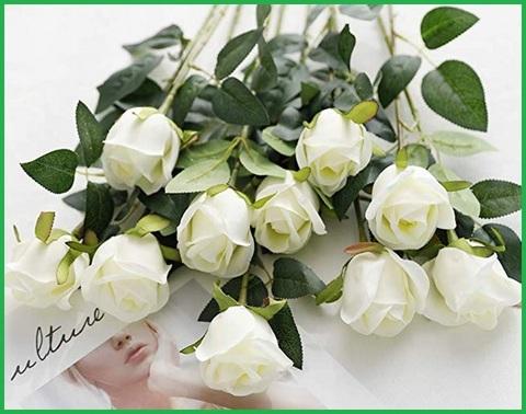 Fiori per nozze con rose bianche
