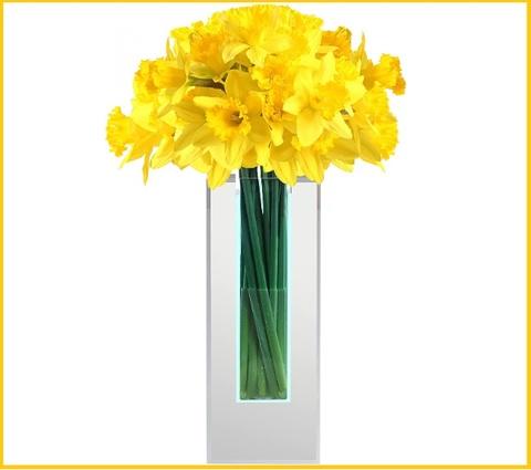 Composizione fiori con vaso a specchio