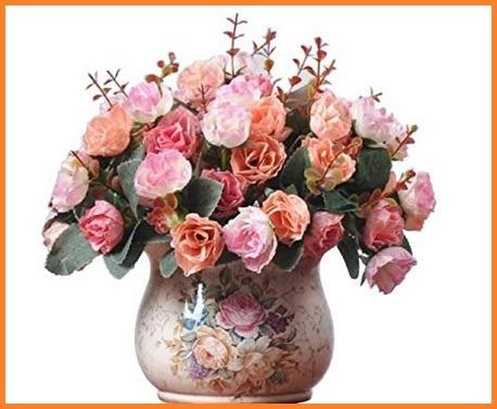 Composizione di rose per centrotavola