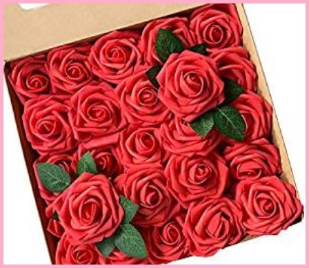 Mazzo di rose rosse finte