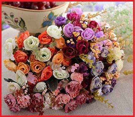 Vasetti Con Rose Brillantinose