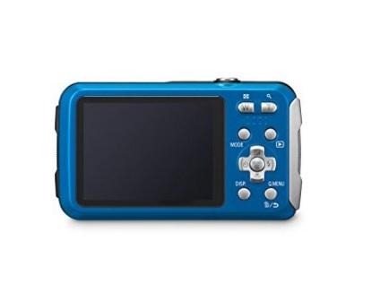 Fotocamera azzurra panasonic lumix