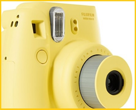 Fotocamera istantanea mini giallo
