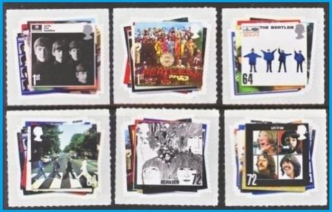 Beatles francobolli royal mail