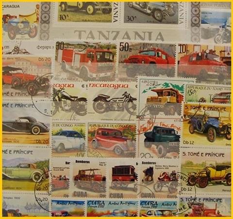 Francobolli automobili collection
