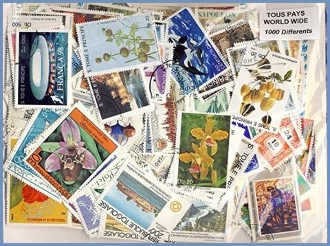 Francobolli collezione varie fantasie