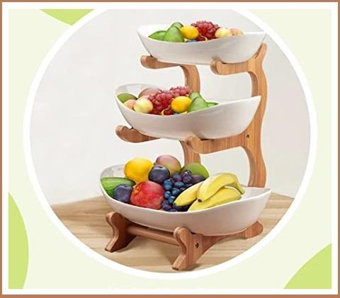 Fruttiera a piani legno
