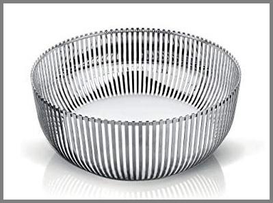 Fruttiera argento moderna