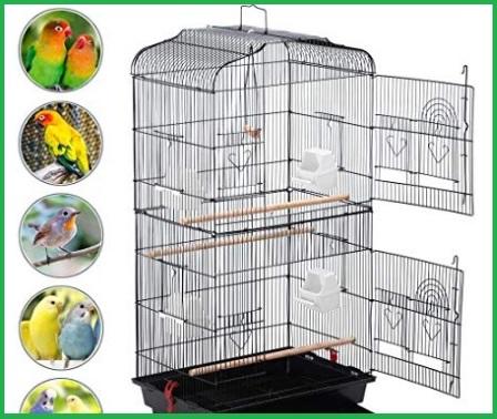 Gabbia Per Uccellini Con Ruote