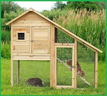 Gabbia per coniglio in legno