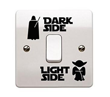 Adesivi star wars per l'interruttore della luce