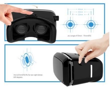 Occhiali per la realtà virtuale con smartphone universale