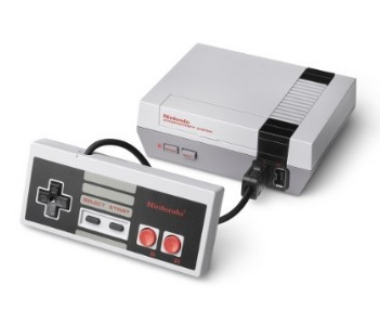 Replica della console nintendo con vari giochi