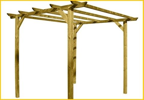 Gazebo pergola legno