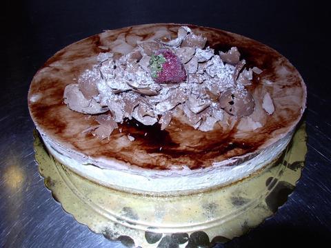 Mousse al cioccolato e vaniglia variegato di nutella
