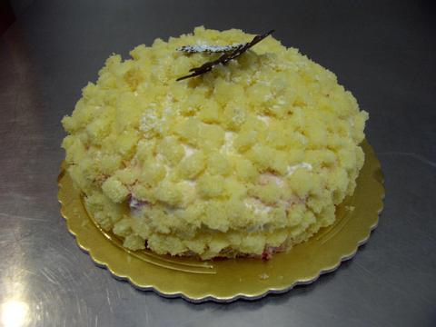 Torta mimosa semifreddo alla vaniglia