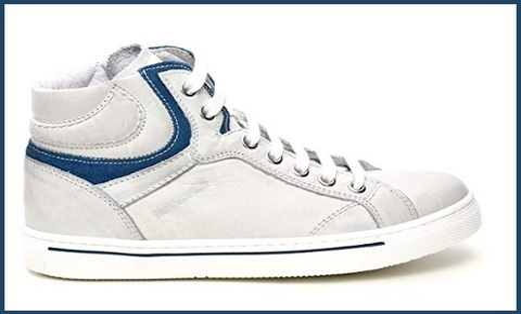 Sneakers alta nero giardini dream bianco