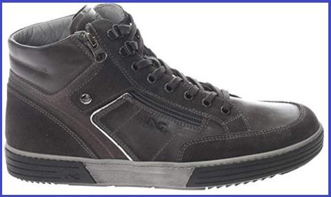 Sneakers alta nero giardini nepal grigio