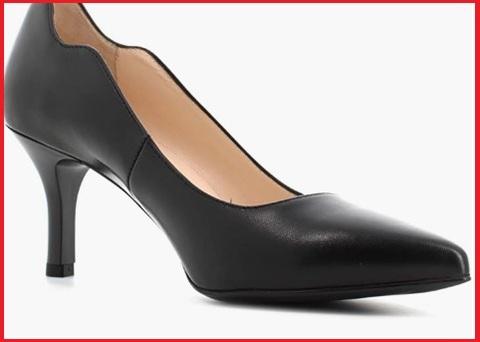 Sandalo elegante beige, plateau e punta chiusa nero giardini