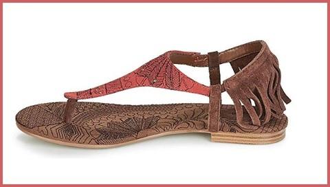 Sandalo donna fantasia zeppa effetto sughero desigual
