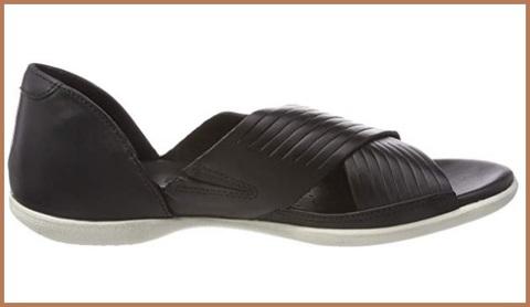 Sandalo donna elastico nero e pailettes doppio senso