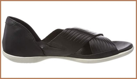Sandalo donna elastico nero e pailettes