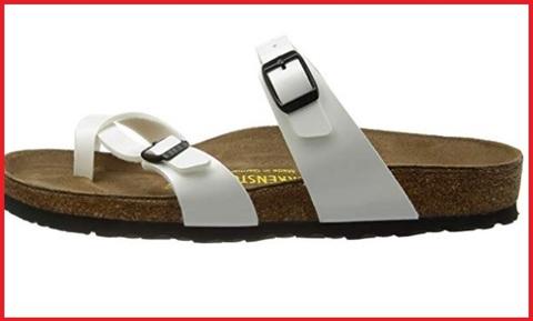Sandalo pelle argento e zeppa tessuto birkenstock