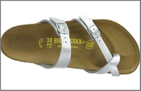 Sandalo donna pelle riv. tessuto grigio birkenstock