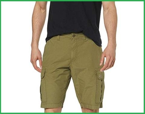 Bermuda da uomo kaki chiaro, tasca laterale, napapijri