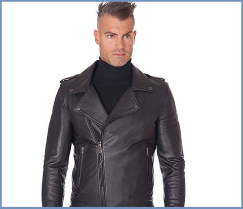 Giacca in pelle uomo chiodo