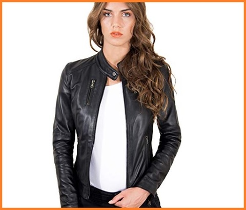 Giacca In Pelle Biker Donna