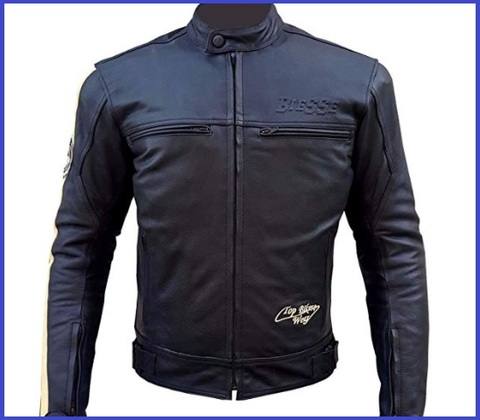 Giacca in pelle moto donna