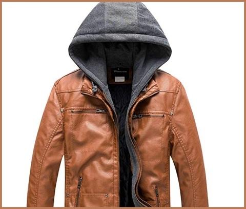 Minetom Donna Giacche Ecopelle Manica Lunga Motociclista Invernali Giubbotto Finta Pelle Vintage Cappotti con Cappuccio Tasca