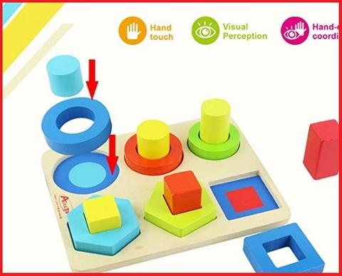 Giocattolo di legno forme geometriche