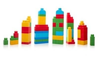 Mega torre costruzioni colorata