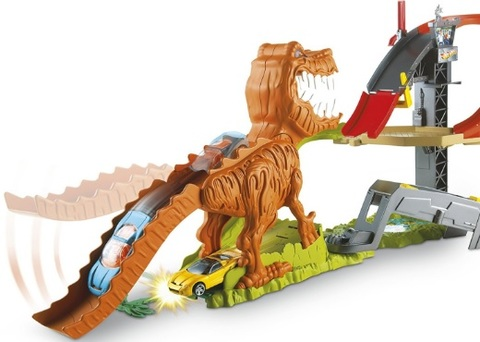Pista hot wheels sfida al t rex in offerta