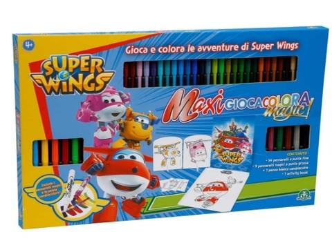 Set completo pennarelli per disegnare super wings