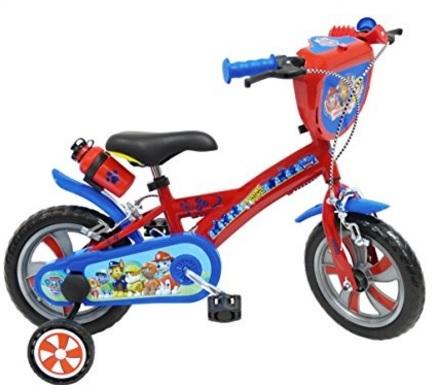 Bicicletta con rotelle del famoso cartone paw patrol