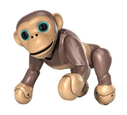Scimmia robot interattiva bimbi