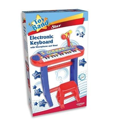 Tastiera con sgabello bontempi per bambini