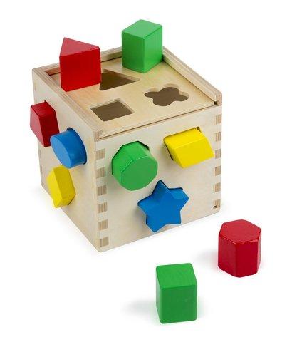 Giochi in legno per bambini cubo con varie forme