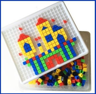 Giocattoli educativi costruzioni in plastica per bimbi