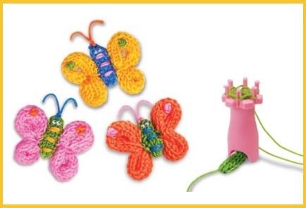 Farfalle da realizzare in maglia
