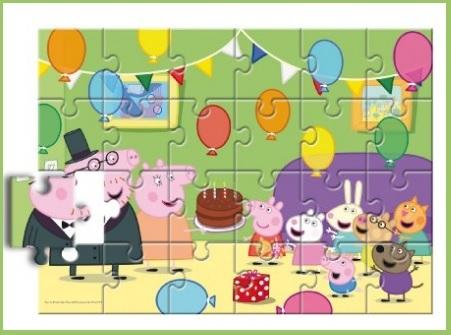 Puzzle della famosa peppa pig da 24 pezzi