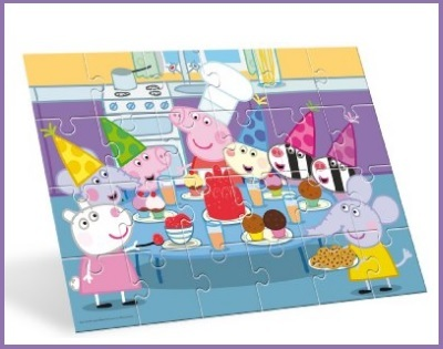 Puzzle pavimento di peppa pig