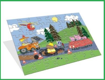 Puzzle peppa pig sagomato e per bambini