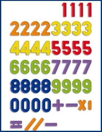 Numeri magnetici per imparare la matematica