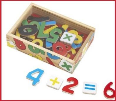 Numeri in legno e magnetici per imparare divertendosi