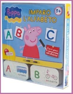 Impara l'alfabeto con il libro della mitica peppa pig
