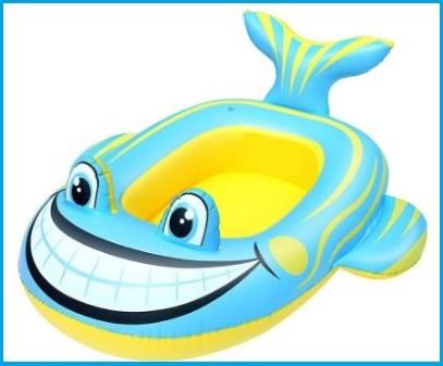 Canotto gonfiabile a forma di pesce